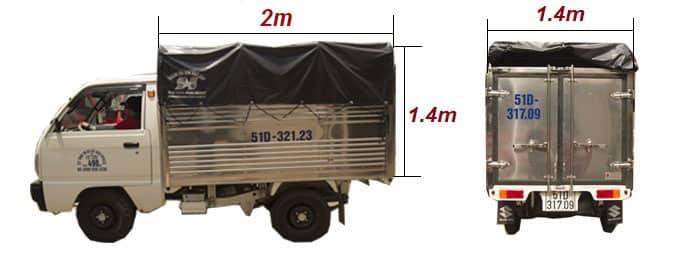 bảng giá cho thuê xe tải 500kg