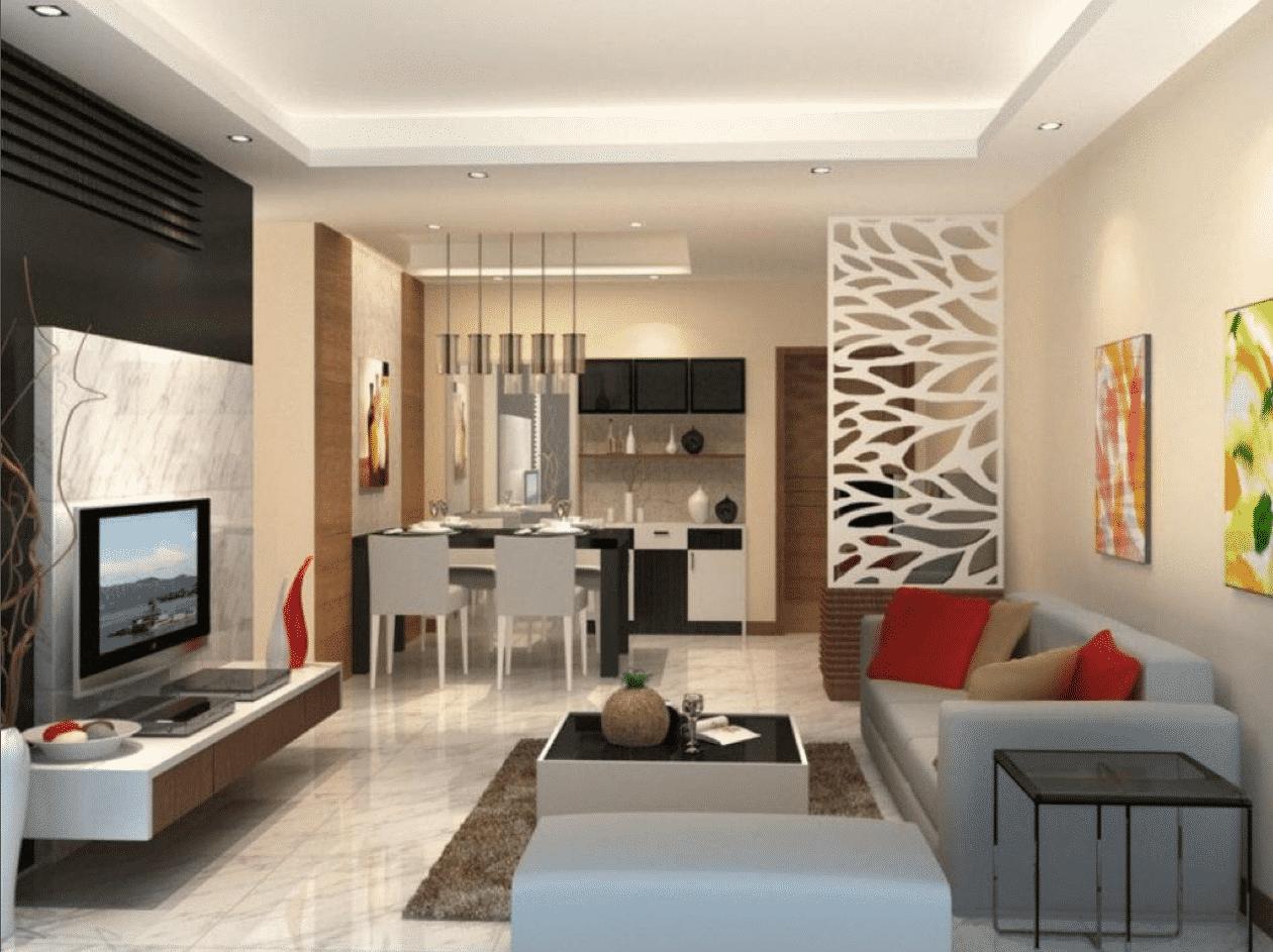 Những lưu ý khi thiết kế phòng khách và bếp chung