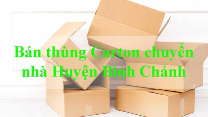 Đơn vị bán thùng carton chuyển nhà huyện Bình Chánh chuyên nghiệp uy tín