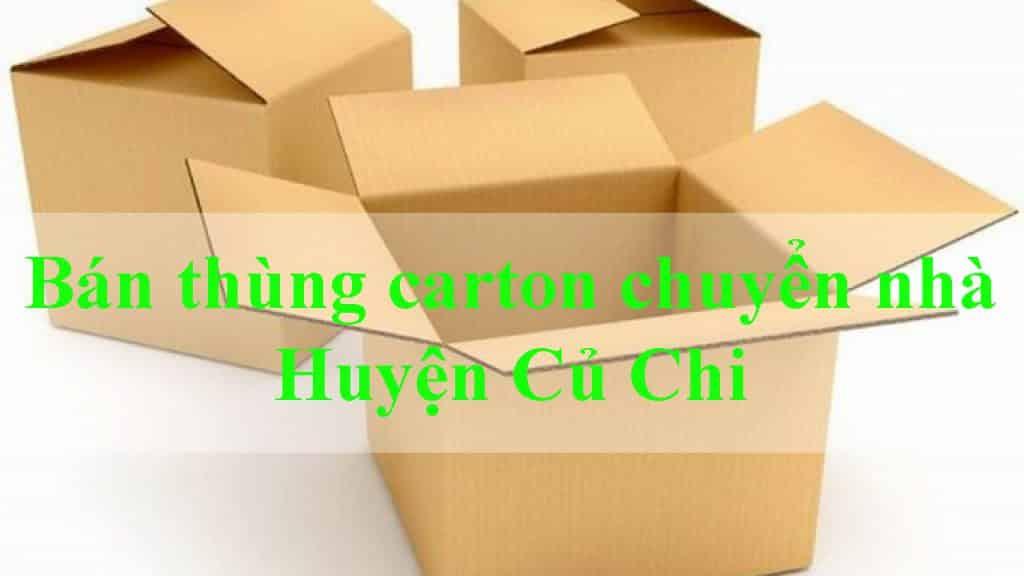 bán thùng carton chuyển nhà Huyện Củ Chi
