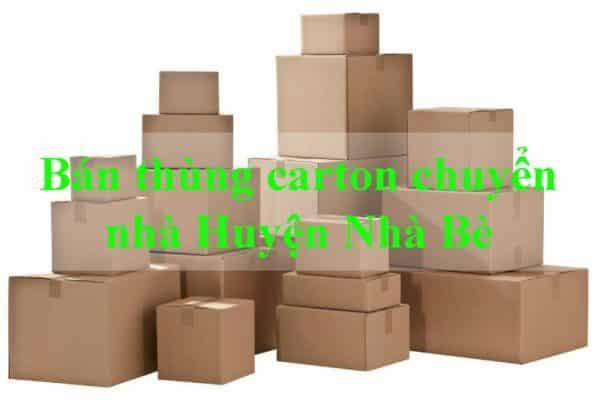 Đơn vị bán thùng carton chuyển nhà giá rẻ uy tín chuyên nghiệp