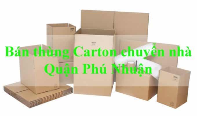 Bán thùng Carton chuyển nhà Phú Nhuận