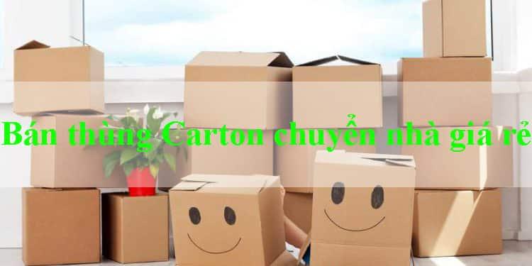 Đơn vị bán thùng carton chuyển nhà huyện Hóc Môn chất lượng, giá rẻ