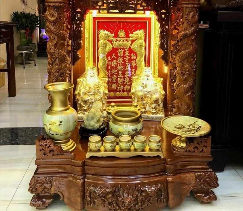 Xác định vị trí bàn thờ Ông Địa trong nhà chính xác