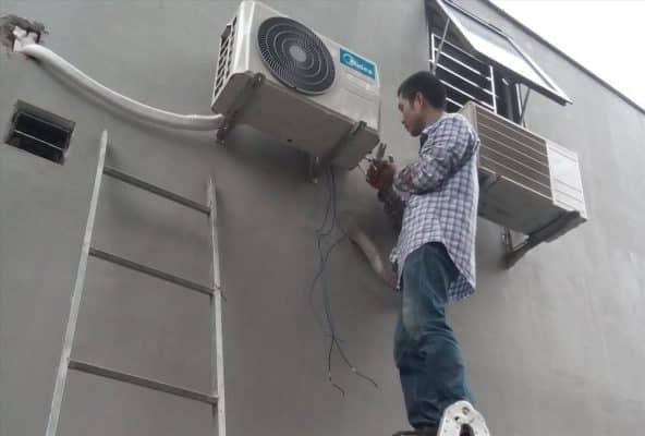 hướng dẫn cách đi ống đồng máy lạnh âm tường 3