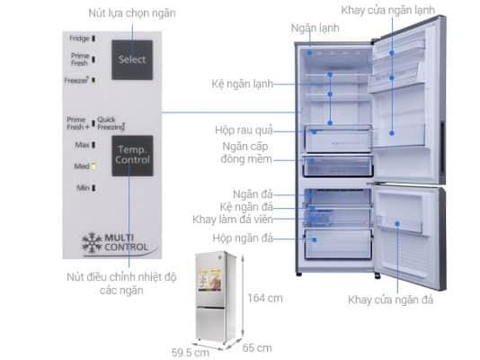 Cấu tạo chi tiết của tủ lạnh