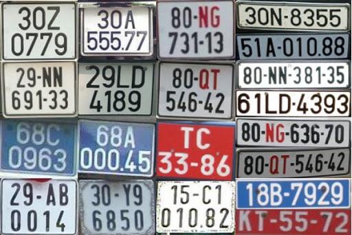 Phân loại biển số xe máy nước ta hiện nay