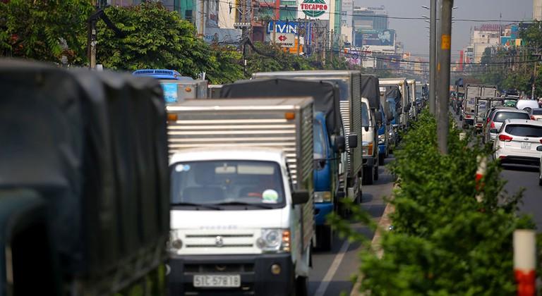 Xe tải bao nhiêu tấn được vào thành phố