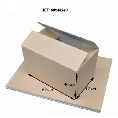 Kích thước thùng giấy carton 60x40x40
