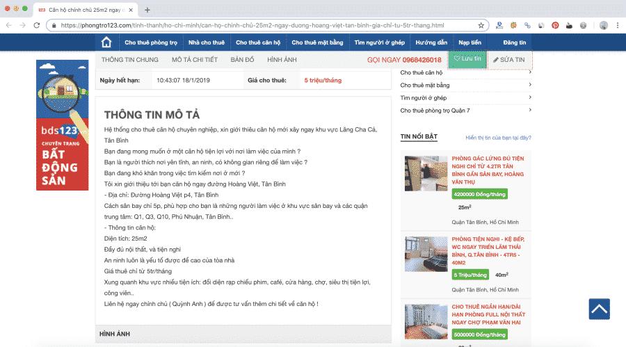 Website tìm phòng trọ 123