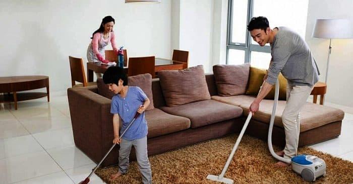 dọn dẹp nhà cửa nhanh gọn